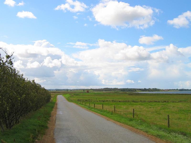 Smalle weg door het Deense landschap © copyright dutchmarco