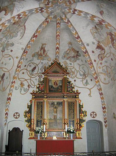 In de Vor Frue Kirke met mooie fresco's © copyright dutchmarco