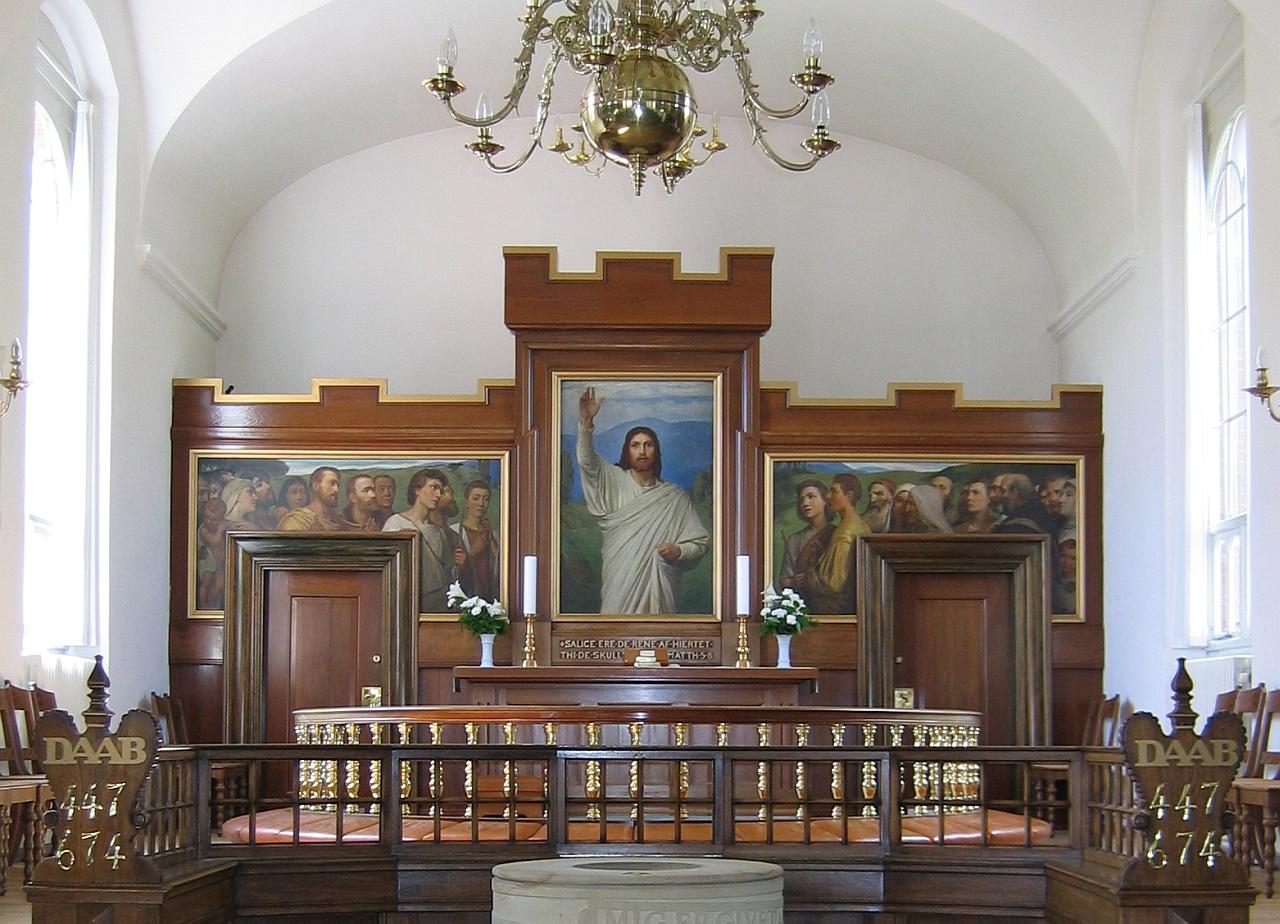 Altaar in de Skive Kirke in Skive, Denemarken © copyright dutchmarco