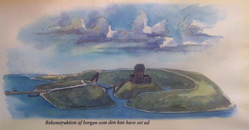 Zo moet de Vikingburcht van Sjørring er in vroeger dagen hebben uitgezien © copyright dutchmarco