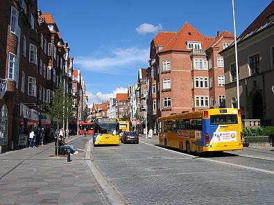 In het centrum van Aalborg, grote stad met busverkeer © copyright dutchmarco