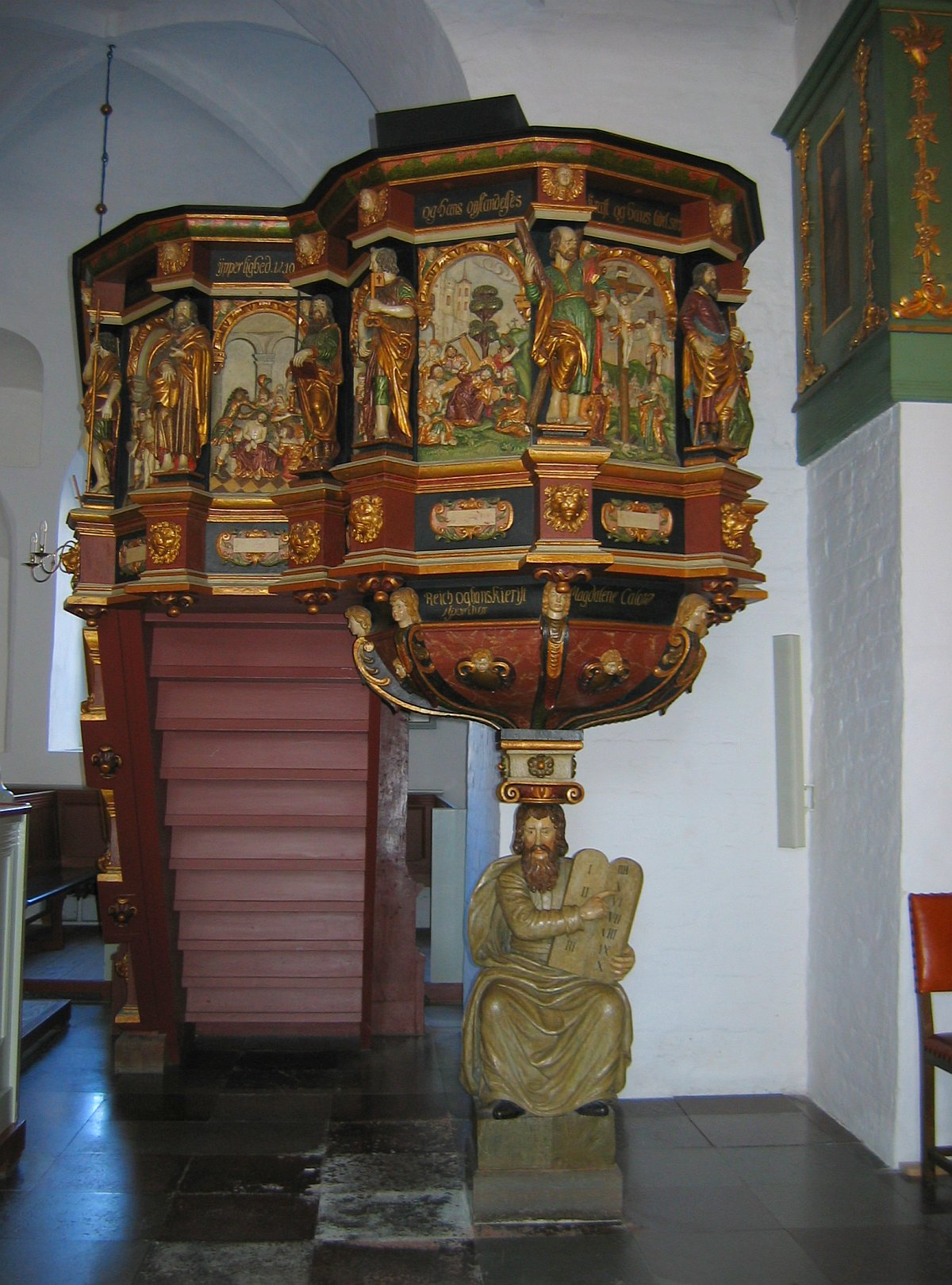 Preekstoel in de Budolfi kathedraal © copyright dutchmarco