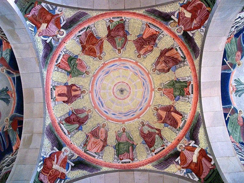 In de domkerk van Viborg - plafond van de koepel © copyright dutchmarco