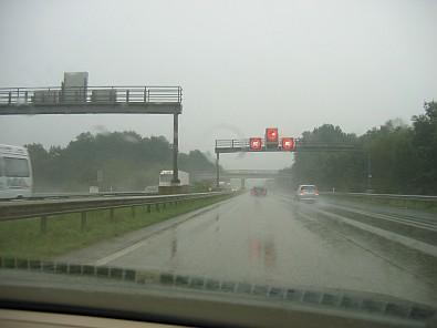 Veel regen onderweg in Duitsland © copyright dutchmarco