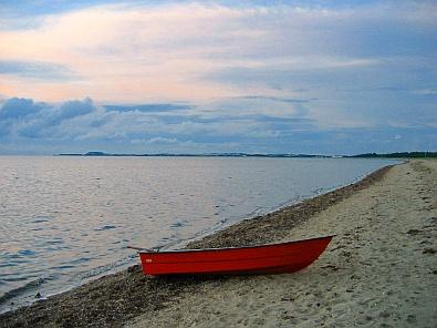 Het strand bij Trend tijdens ondergaande zon, zicht naar het noorden © copyright dutchmarco