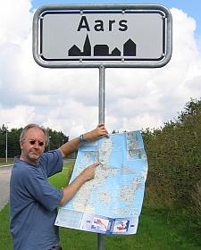 Daar ligt Aars op de landkaart © copyright dutchmarco