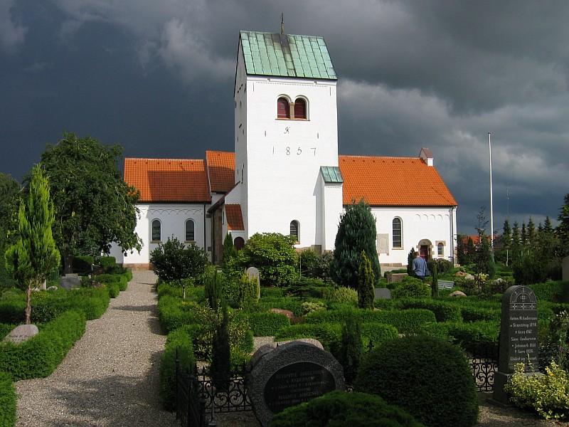 Kerk in Aars, Denemarken © copyright dutchmarco