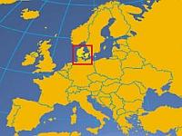 Landkaart van Europa