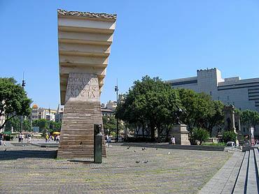 Op het Plaça de Catalunya © copyright Dutchmarco
