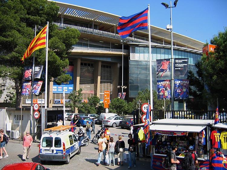 Bij het voetbalstadion van FC Barcelona © copyright Dutchmarco