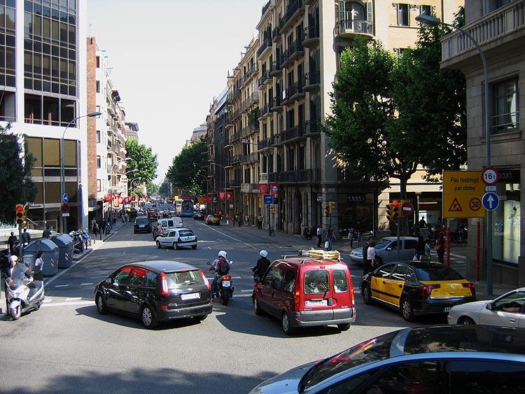 Een straat in Barcelona © copyright Dutchmarco