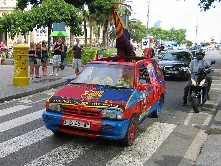 La Rambla: feestvreugde op straat na de overwinning van FC Barcelona © copyright Dutchmarco