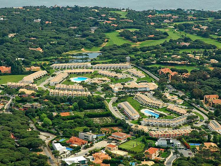 Het appartementenpark van bovenaf
