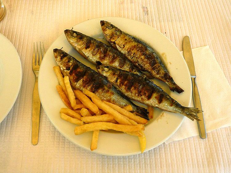 Sardines met frites © copyright Dutchmarco