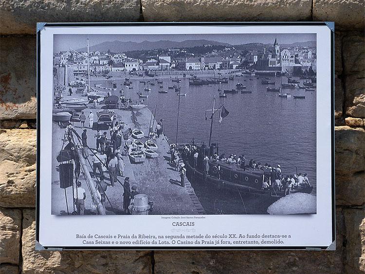 Oude foto op de promenade tussen Cascais en Estoril © copyright Dutchmarco