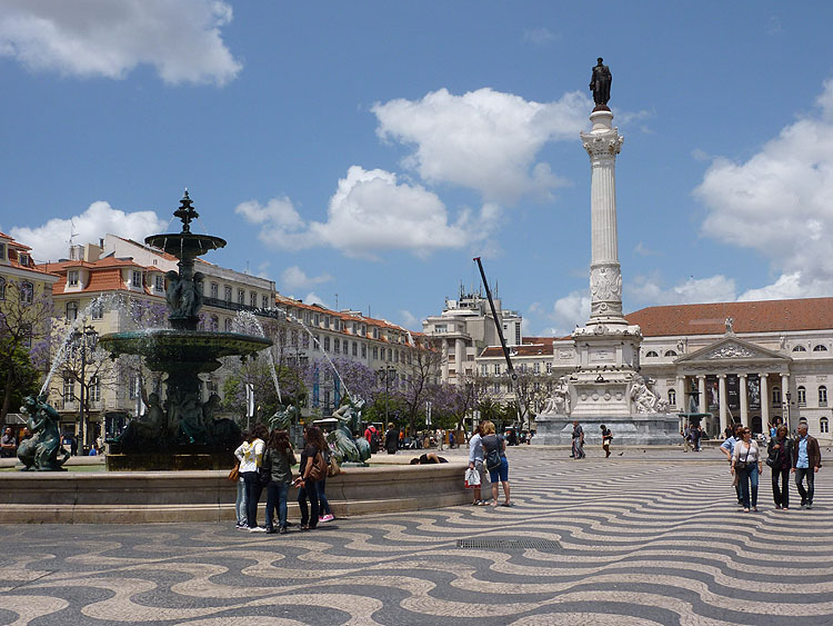 Het Praça Dom PedroIV © copyright Dutchmarco